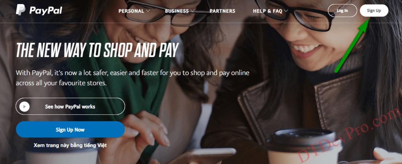 Hướng dẫn chi tiết tạo tài khoản PayPal mới nhất 2020
